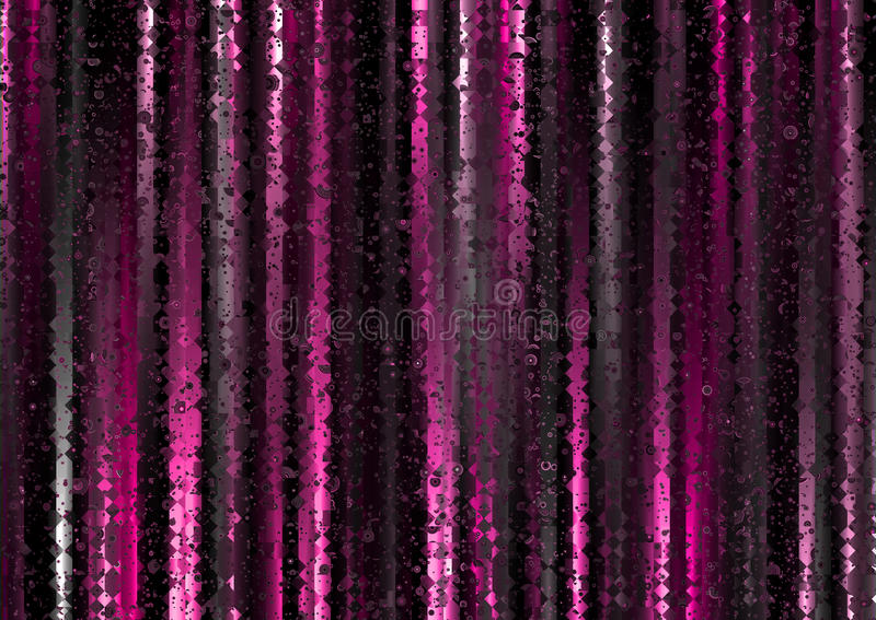 Magenta Polygonal Light Curtain Abstract Background. Shimmering abstract background of various magenta polygonal shapes royalty free illustration