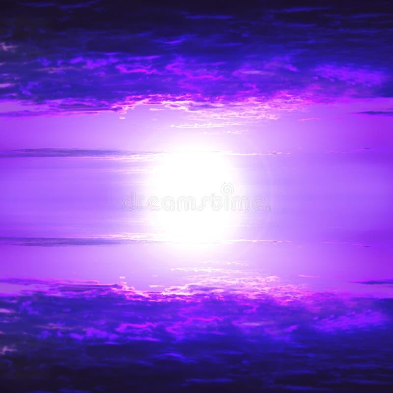 Magenta Sky. Cloudscape beautiful heaven and sun royalty free stock photos