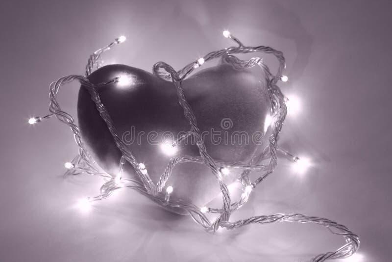 magentafärgad filterhjärta fotografering för bildbyråer
