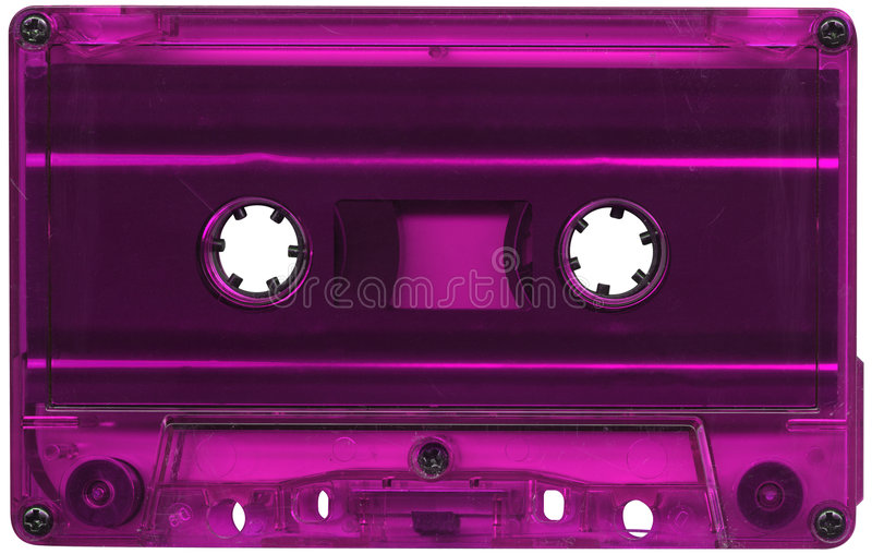 Magentarotes farbiges Kassettenband lizenzfreies stockfoto