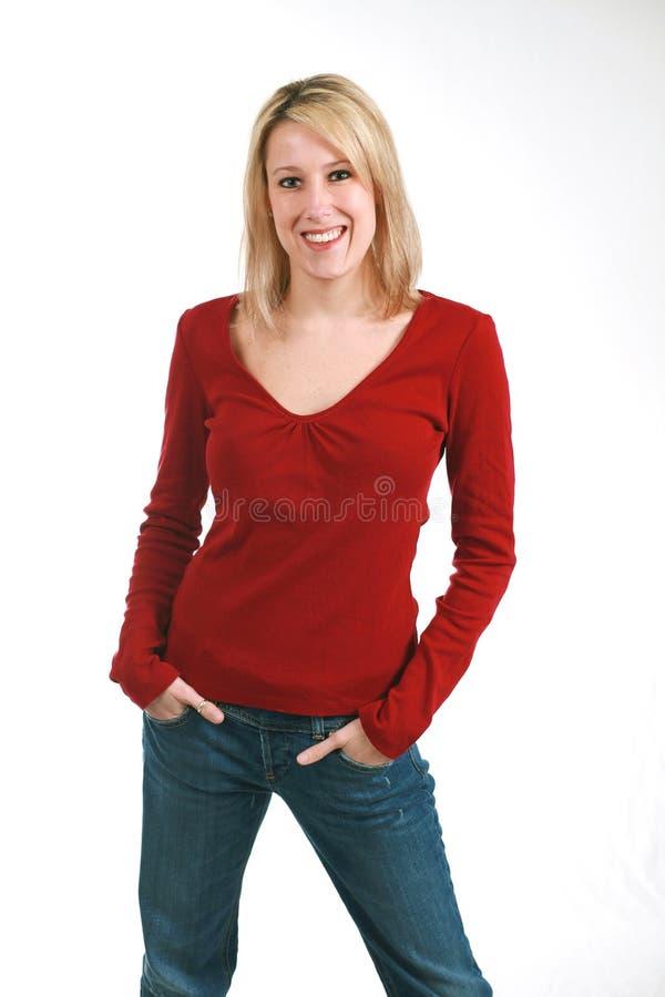 mager blondin royaltyfria foton