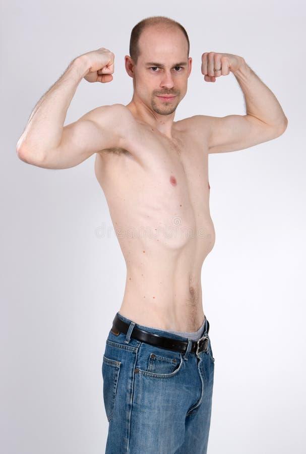 mager man royaltyfria foton