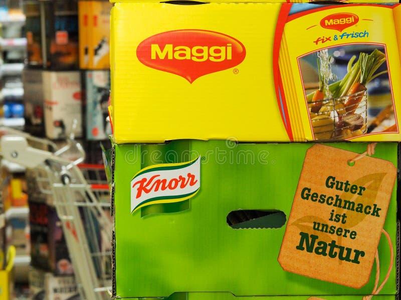 Maggi和Knorr 库存图片