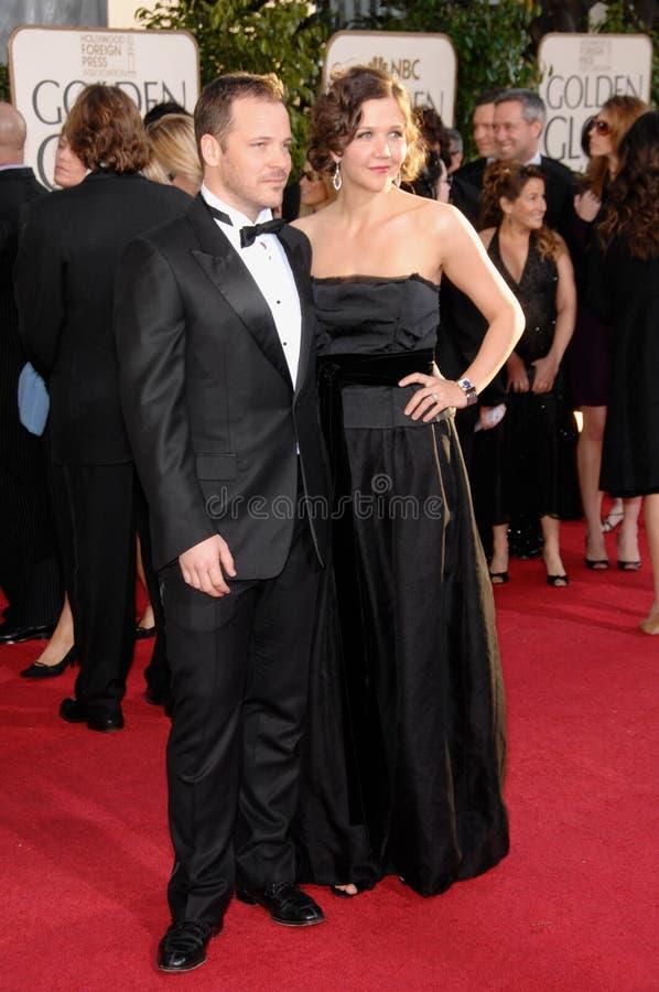 Maggie Gyllenhaal, Peter Sarsgaard royalty-vrije stock foto's