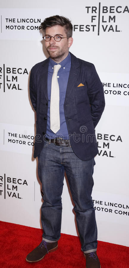 Maggie. New York, NY, USA - April 22, 2015: Director Henry Hobson attends the World premiere Narrative of Maggie during the 2015 Tribeca Film Festival at BMCC royalty free stock images