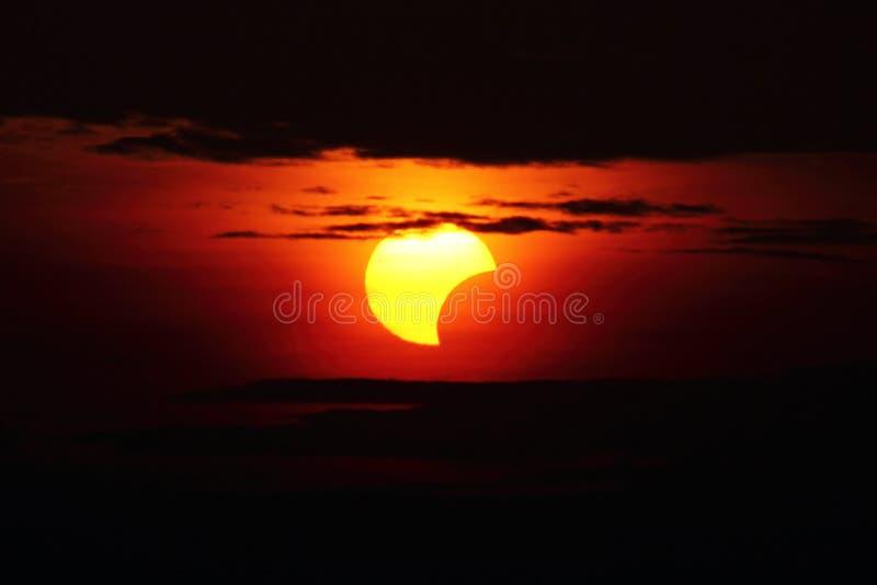 10 maggio 2013 eclissi fotografia stock libera da diritti