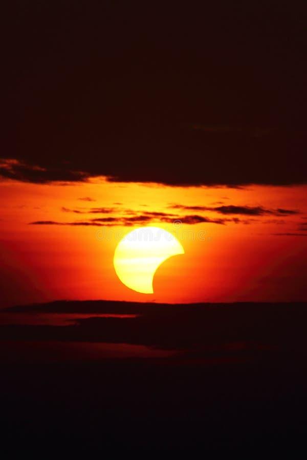 10 maggio 2013 eclissi immagine stock