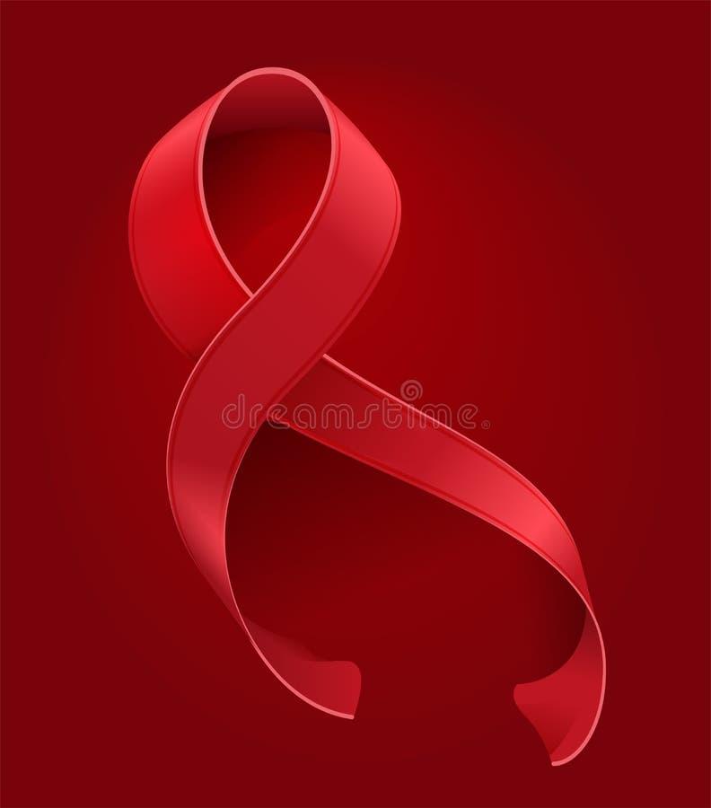21 maggio giorno del mondo delle vittime di ricordo dell'AIDS Il nastro rosso sul simbolo rosso del fondo aiuta la memoria illustrazione di stock