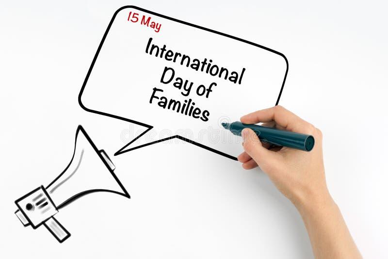 15 maggio giorno internazionale delle famiglie immagine stock