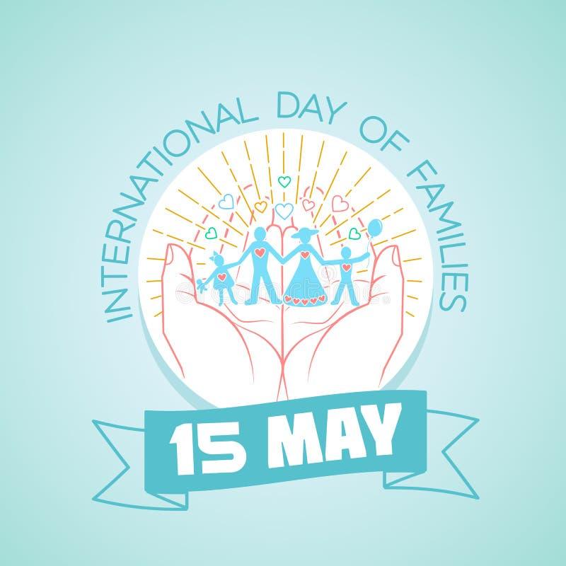 15 maggio giorno internazionale delle famiglie illustrazione di stock