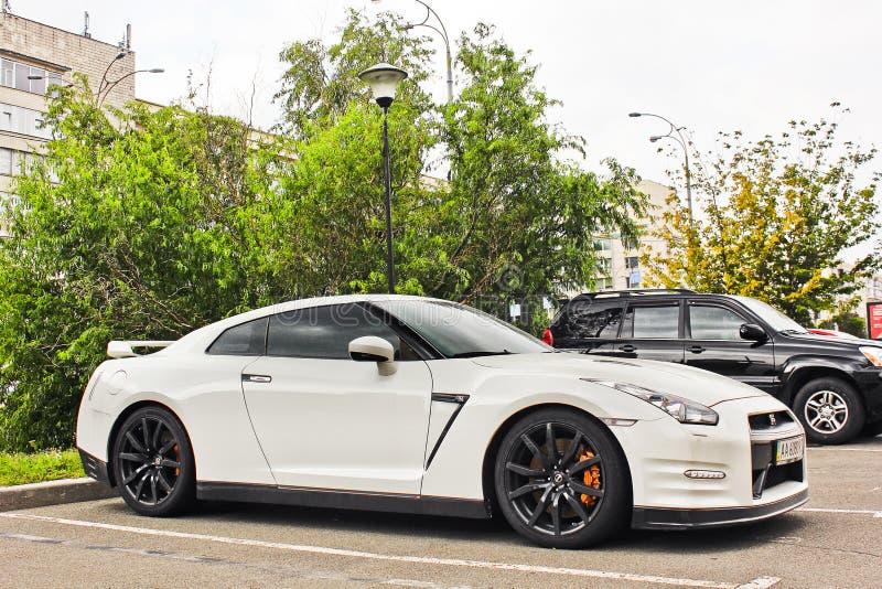 5 maggio 2017; L'Ucraina, Kiev Nissan GT-R fotografia stock libera da diritti