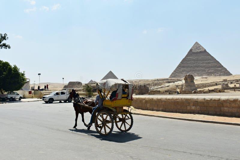 Maggio, 6, 2019 La piramide di Giza, Il Cairo, Egitto fotografia stock libera da diritti