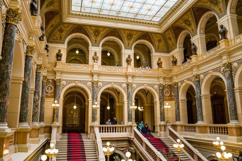 Maggio 2019, museo nazionale a Praga, repubblica Ceca immagine stock libera da diritti
