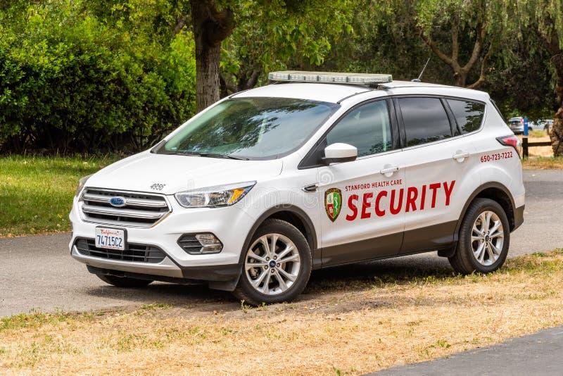 9 maggio 2019 Palo Alto/CA/U.S.A. - veicolo di sicurezza azionato da Stanford Health Care fotografia stock