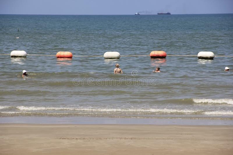4 maggio 2011, ricreazione tropicale della spiaggia della città di viaggio di vacanza della linea costiera di Pattaya Tailandia,  fotografia stock libera da diritti