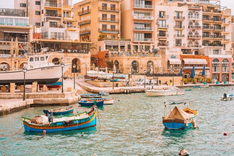 20 maggio 2018 St Julian malta fotografia stock libera da diritti