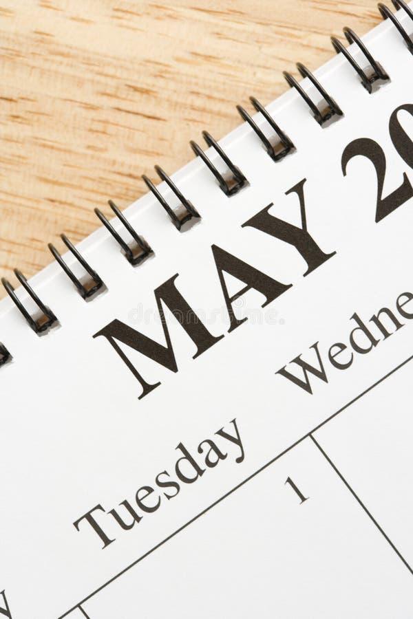Maggio sul calendario. fotografia stock libera da diritti