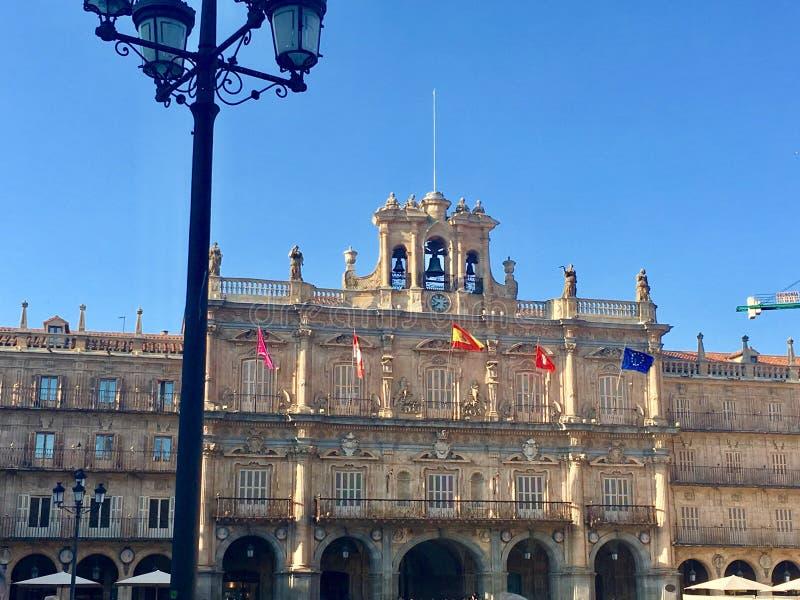 Maggiore della plaza a Salamanca immagine stock