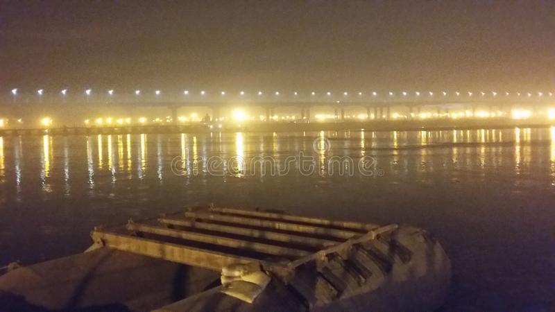 Magh Mela in Allahabad royalty-vrije stock afbeelding