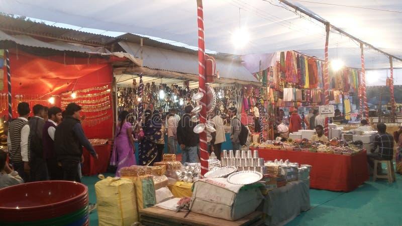 Magh Mela in Allahabad royalty-vrije stock foto
