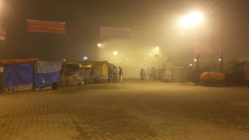 Magh Mela in Allahabad stock fotografie