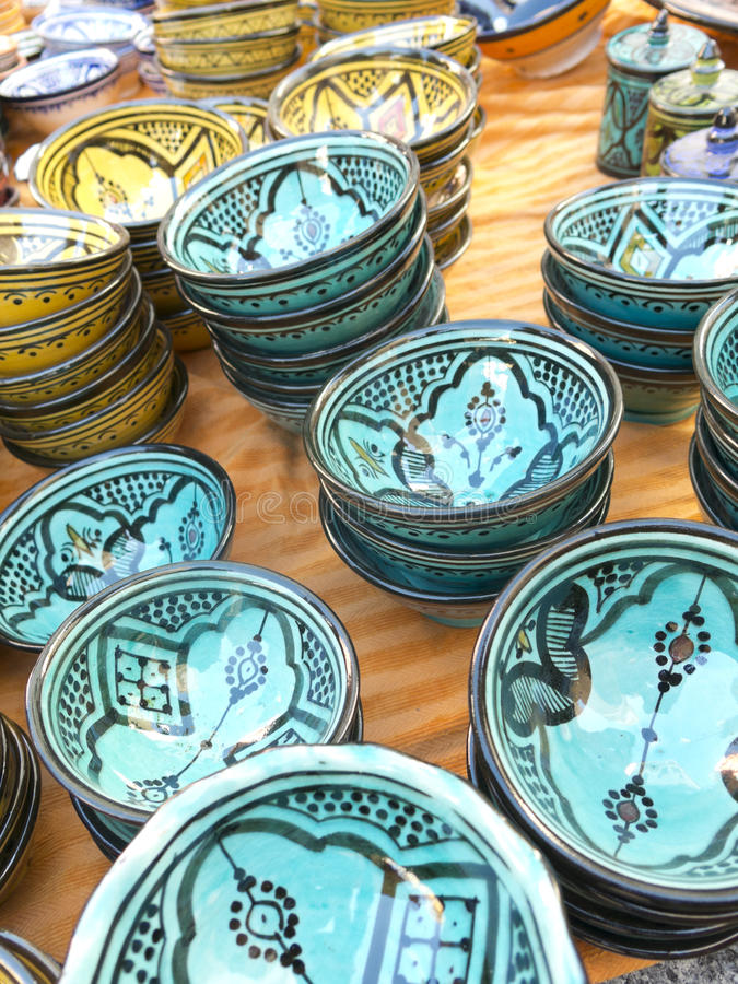 Maghreb cerâmico imagens de stock royalty free