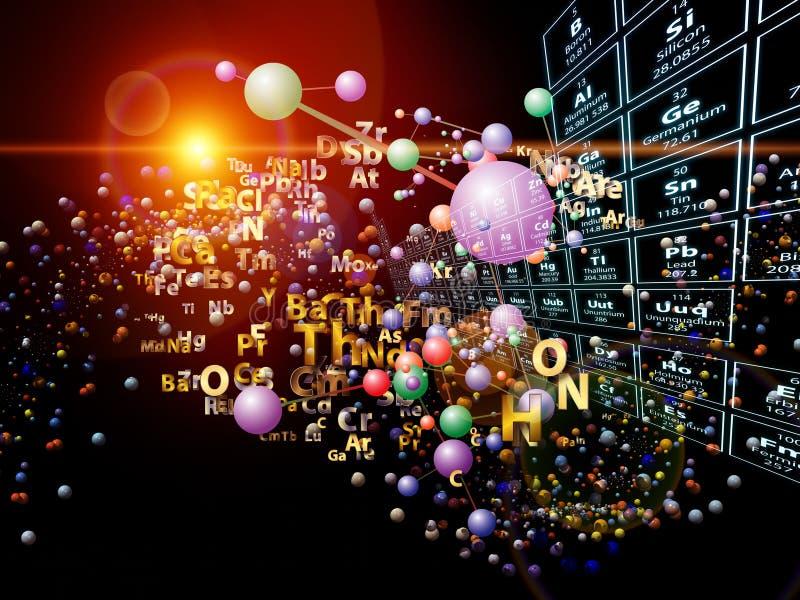 Magi av Chemical element vektor illustrationer