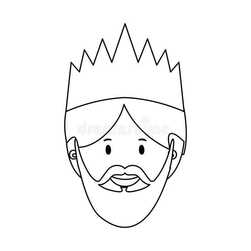 Magi icon image. Gaspar magi or wise men icon image vector illustration design stock illustration