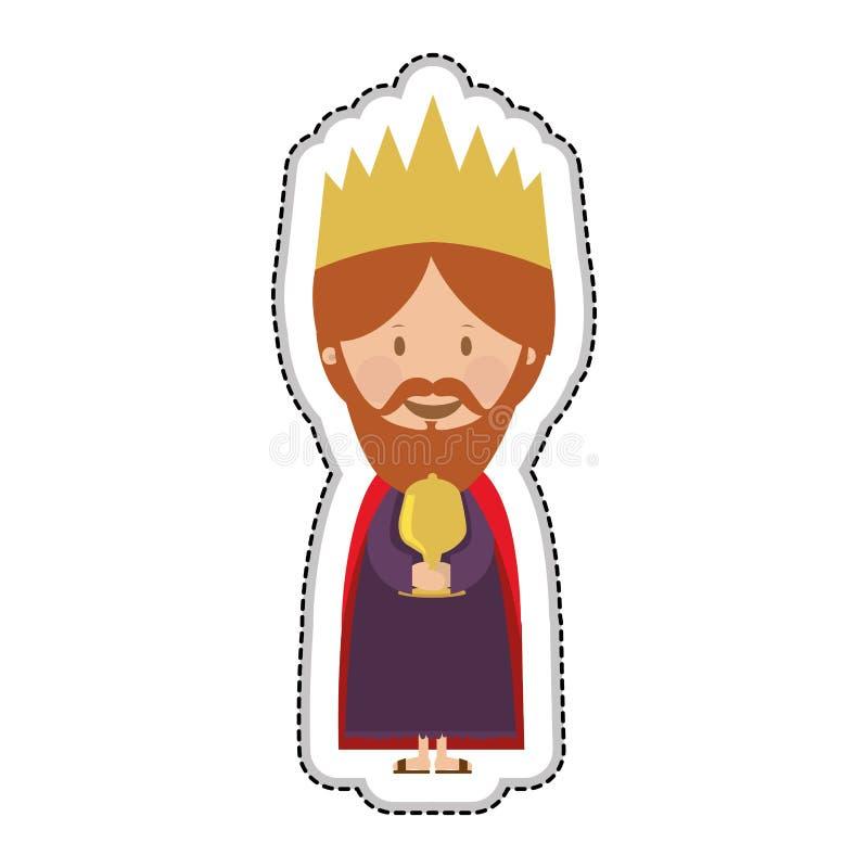 Magi icon image. Gaspar magi or wise men icon image vector illustration design royalty free illustration