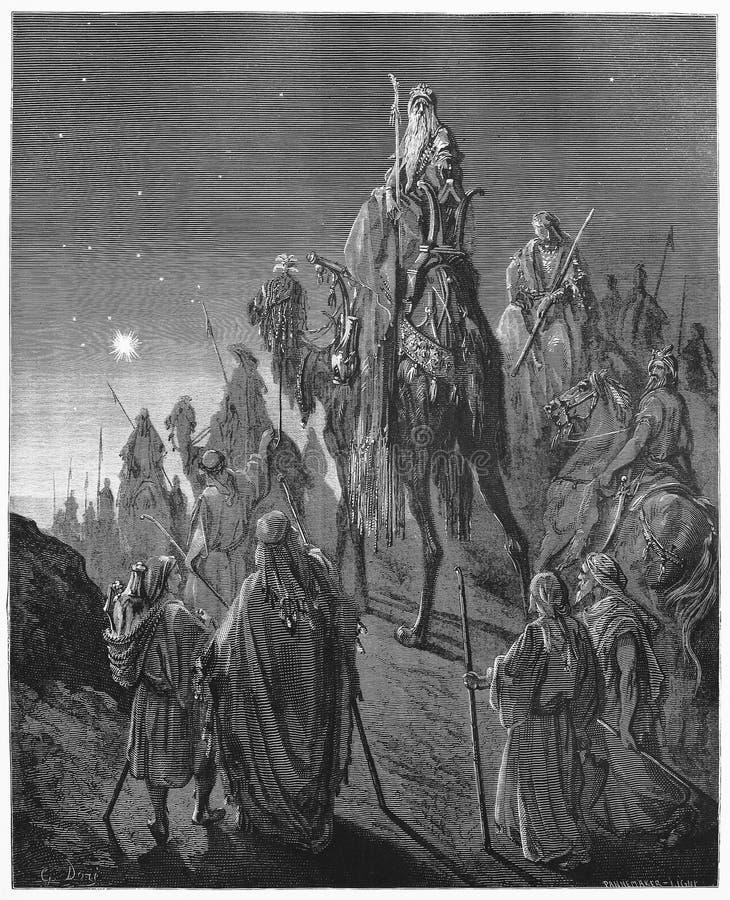 Magi van het Oosten royalty-vrije illustratie