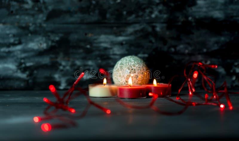 Magia, atmosfera scura di witer e Natale fotografia stock