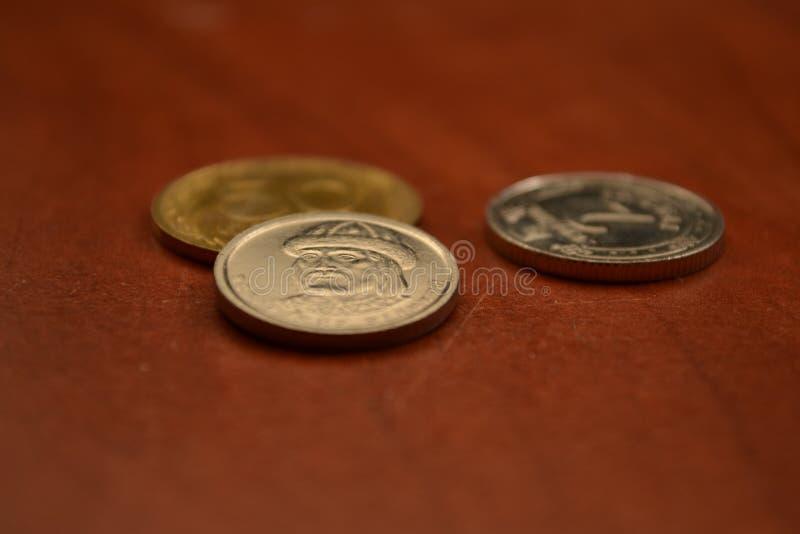 Magia de dígitos Monedas ucranianas imágenes de archivo libres de regalías