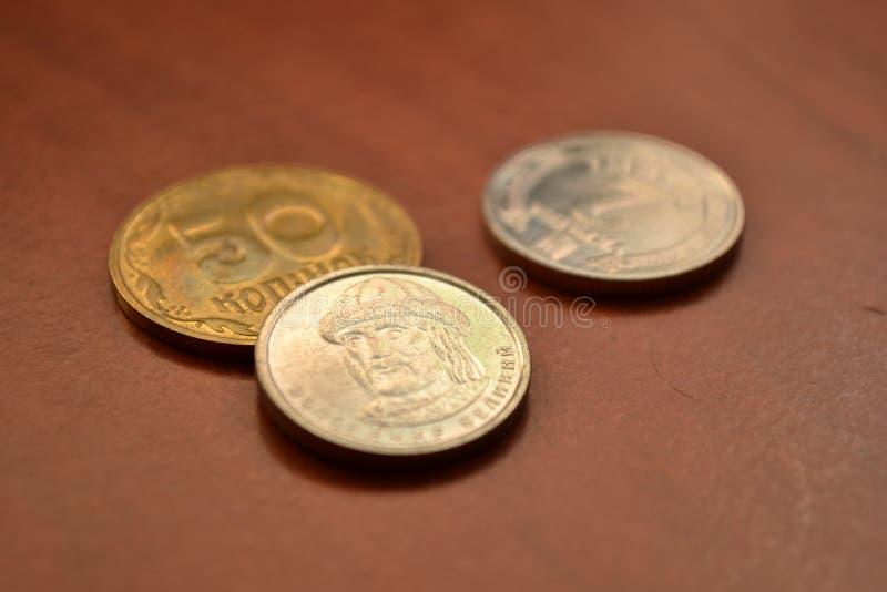 Magia de dígitos Monedas ucranianas imagenes de archivo
