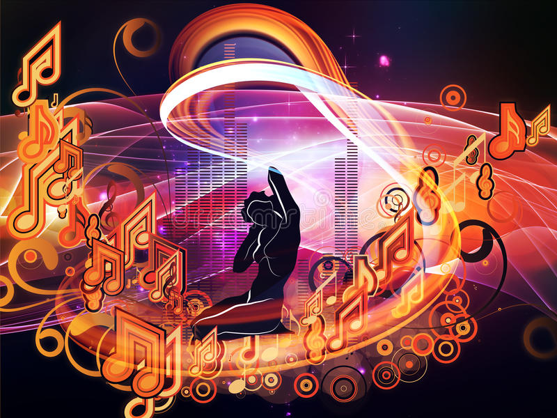 Magia de la música ilustración del vector