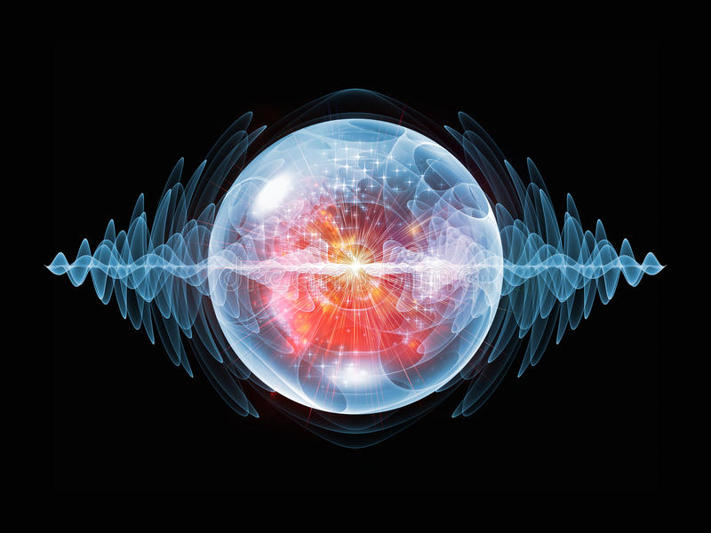 Magia de la partícula de la onda stock de ilustración