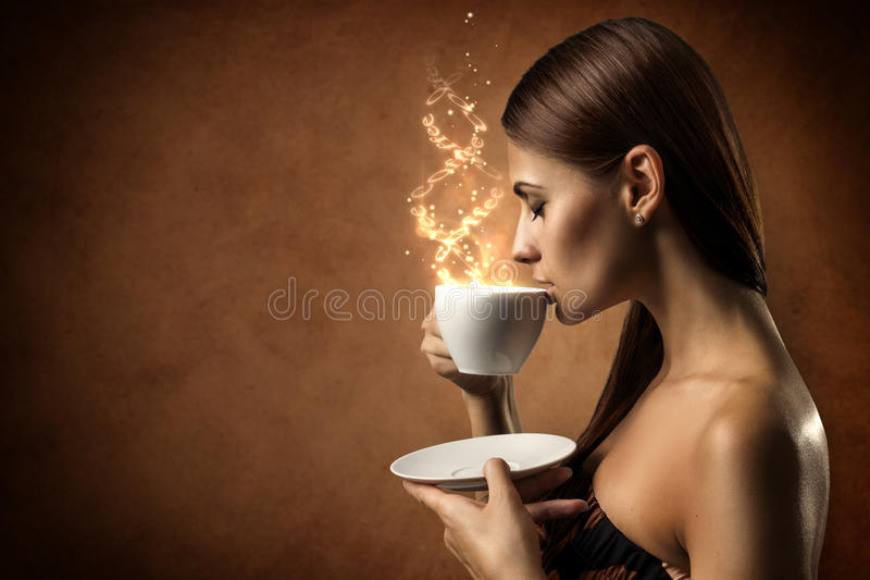 Magia del café fotos de archivo libres de regalías