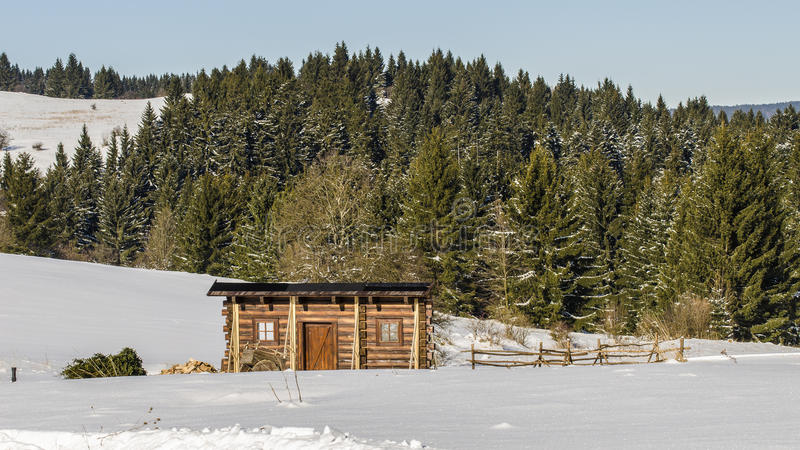 Magia di inverno su Krahule fotografia stock