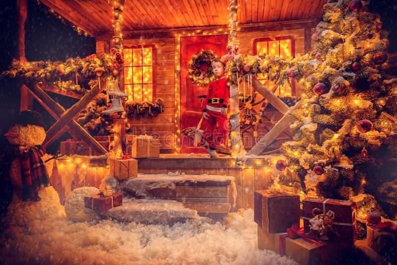 Magia dom Santa obraz stock