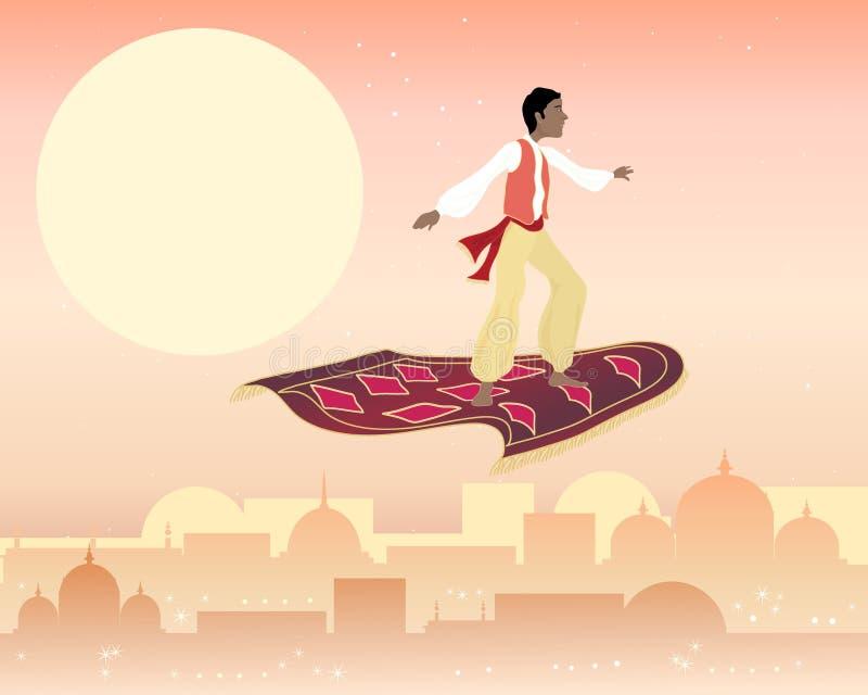 Magia dywan ilustracji