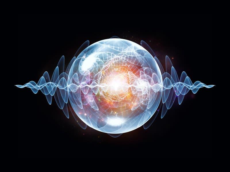 Magia Falowa cząsteczka ilustracja wektor