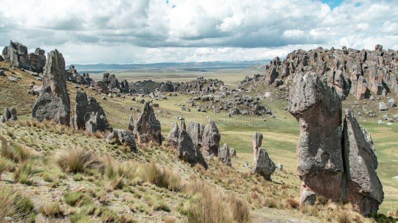 Magia huayllay Peru obraz stock