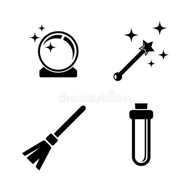 magia Iconos relacionados simples del vector stock de ilustración
