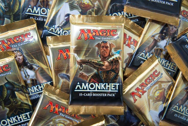 Magia il Amonkhet riunentesi fotografia stock libera da diritti
