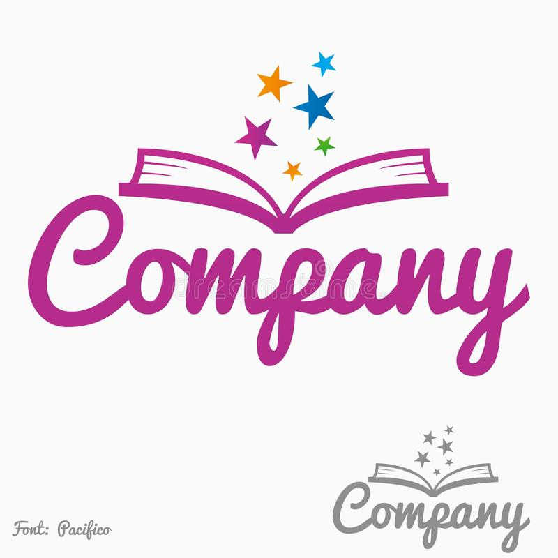 Magia książkowy logo royalty ilustracja