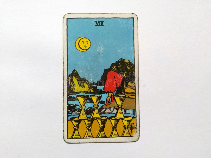 Magia occulta di divinazione delle carte di tarocchi fotografia stock libera da diritti