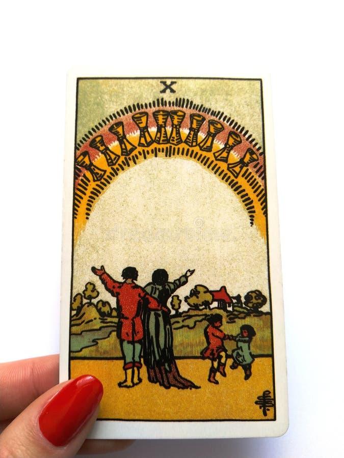 Magia oculta de la adivinaci?n de las cartas de tarot imagenes de archivo