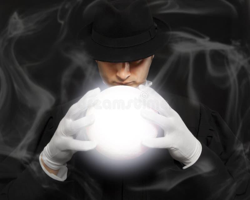 Magia, prestazione, circo, concetto di manifestazione Fuoco molle fotografie stock