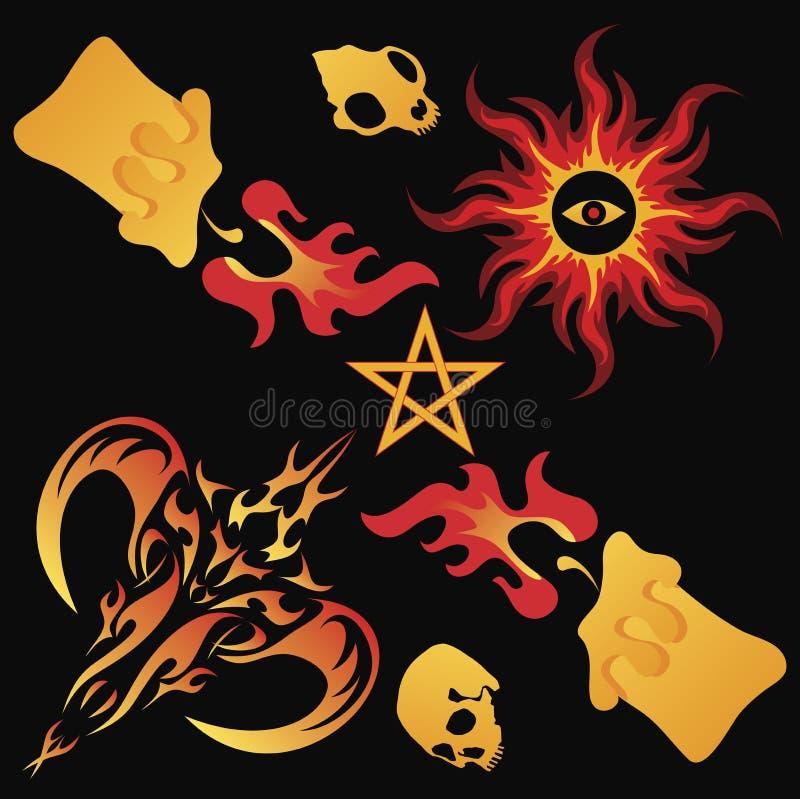 Magia scura illustrazione di stock