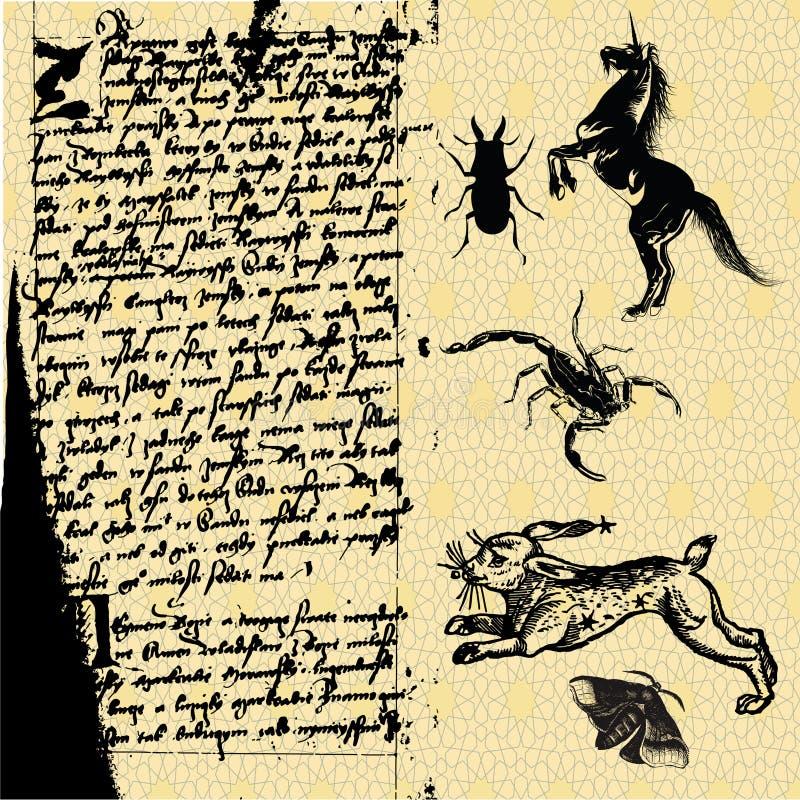 magia szorstka ilustracja wektor