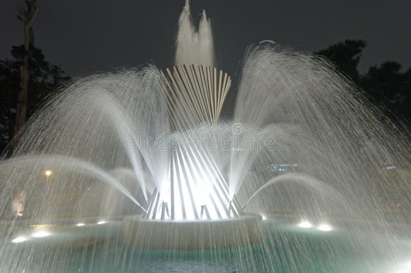 Magia Wodny obwód Lima Peru zdjęcia royalty free
